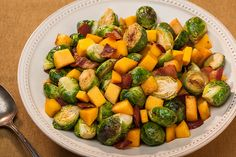 Brussels Sprouts with Mango and Bacon - Foodista.com