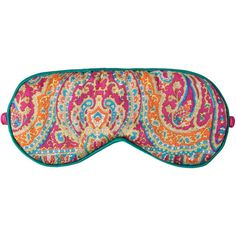 Zara Home Paisley Silk Eye Mask (13 BRL) ❤ liked on Polyvore featuring sleepwear and indefinite
