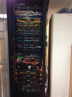 Rewiring job is finished. They did a good job re running all the cables into this cabinet.