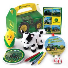 John Deere 2nd Birthday Party Favor Box    $4.99