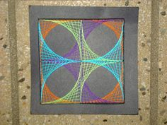 Amazing string art lesson with instruction and link to patterns   Adventures of a Middle School Art Teacher: 7th Grade String Art