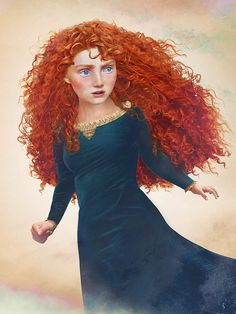 "Envisioning Disney Girls in ""Real Life"" on Behance.  Merida from Brave"