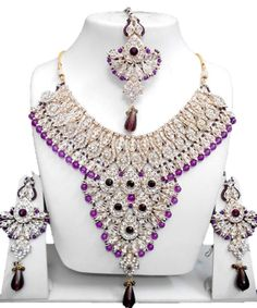 Checkout our #arrascreations product Bollywood Style Indian Imitation Necklace Set / AZBWBR041-GPU. Buy now at http://www.arrascreations.com/bollywood-style-indian-imitation-necklace-set-azbwbr041-gpu.html