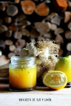 Vinagreta de ajo y limon