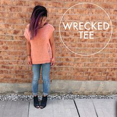 Everyone needs a little touch of punk in their wardrobe! This Wrecked Tee is anoversized top that's edgyyetcute depending on the color you decide to make it