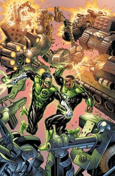 Green Lanterns Kyle Rayner vs. John Stewart by TYLER KIRKHAM & BATT