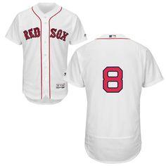 red sox 8 carl yastrzemski white flexbase authentic collection stitched mlb jersey