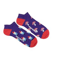 Gnome Ankle Socks | Mismatched by Design | Friday Sock Co. Ethically made in Italy. Click the link to see more designs!