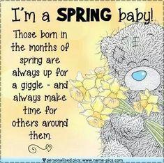 Tatty Teddy - I'm a Spring Baby!