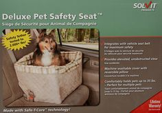 Solvit's design supports the seat from below, providing an unobstructed view and more comfortable ride for pets – no clumsy straps to get in their way. Installs securely in one minute on any seat with separate headrests! Each has a removable, washable liner so they stay clean and fresh. Safety leash included.