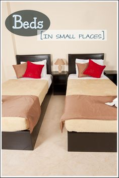 How to design beds in small spaces.