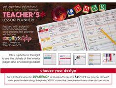 teacher's lesson planner : Erin Condren - love the weekly planning pages! Best Teacher Planner, Erin Condren Teacher Planner, Teacher Lesson Planner, Teacher Plan Books, Teacher Tools, Teacher Stuff, Teacher Gifts, Lesson Plan Templates, Lesson Plans