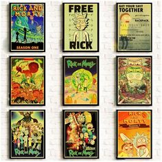 Cartoon Poster Rick and morty retro posters kraft wall paper High Quality Painting For Home Decor wall stickers Cartoon Posters, Cartoon Stickers, Wall Stickers, Retro Posters, Rick And Morty Stickers, Canvas Wall Art, Canvas Prints, Cheap Paintings, Sale Poster