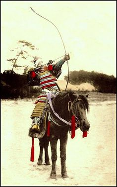 HORSING AROUND WITH A BOW AND ARROW in OLD JAPAN by Okinawa Soba, via Flickr