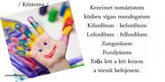 Ahhoz, hogy a gyerekek majd az iskolában ügyesen formálják a betűket, számokat, majd azokban a nagyon kicsi vonalakban el is helyezzék őket, már óvodás korban gyakorolni kell azokat a játékokat, melyek az ujjaikat ügyesítik.   Mozgással egybekötött játékokat szívesen utánozzák és tanulják meg a gyerekek, de a kezeinket...