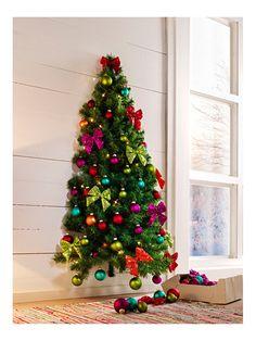 Wand weihnachtsbaum mit kugeln wir weihnachten christmas christmas tree und christmas - Weihnachtsbaum wand ...