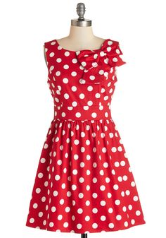 The Pennsylvania Polka Dress in Ruby Dots. From Washington to Wilkes-Barre, Allentown to Aliquippa, everyones talking about your precious polka-dotted dress! #red #modcloth