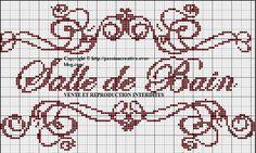 Salle de bains - bathroom - point de croix - cross stitch - Blog : http://broderiemimie44.canalblog.com