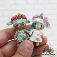 Layna, the Magical Unicorn amigurumi pattern - Amigurumipatterns. : Layna, the Magical Unicorn amigurumi pattern – Amigurumipatterns… Crochet Dolls Free Patterns, Amigurumi Patterns, Crochet Toys, Crochet Fairy, Crochet Unicorn, Unicorn Pattern, Spiral Crochet, Single Crochet, Half Double Crochet Decrease