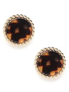 Go bohemian or go for baroque - or why not both? These resin earrings, finished to look like tortoiseshell, come encased in 18k gold-plated beading for an extra luxe look.