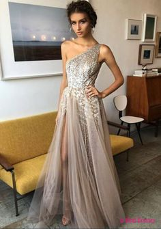 One Shoulder Prom Dress,Sexy Prom Dress,Fashion Prom Dress,Long Prom Dress,Long Split Prom Dress,Long Party Dress,Long Evening Dress,Formal Gowns PD20189478