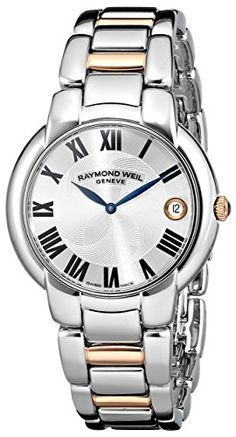 Women's Wrist Watches - Raymond Weil Womens 5235S501659 Jasmine Stainless Steel Watch with TwoTone Link Bracelet -- Want additional info? Click on the image. (This is an Amazon affiliate link)