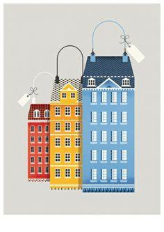 Another SHOP Magazine cover by Copenhagen artist Nathalie Lees