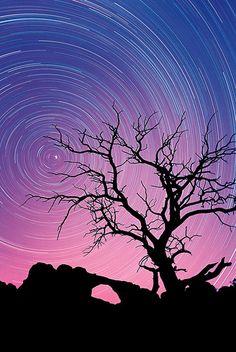 Skyline Arch Star Trails