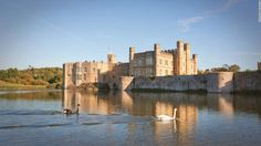 <strong>Leeds Castle </strong>-- Dating back to 1119, Leeds Castle in Kent, England, was the home of countless royals, including King Henry VIII.