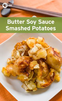 Smashed Potatoes recipe creates conduits for the butter soy sauce flavors to…