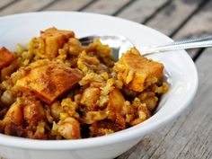 Eat.Pray.Juice.: curried sweet potato and rice skillet