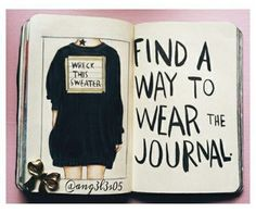 Find a way to wear the journal