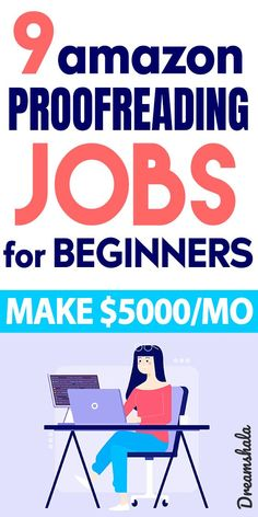 9 Amazon Proofreading Jobs For Beginners – $5000/month. #proofreadingjobs #proofreading #onlinejobs #sidejobs #sidehustles #extramoneyideas #amazon #amazonjobs #amazonproofreadingjobs #amazononlinejobs #freeproofreadingcourse #proofreadingminitraning #dreamshala Ways To Earn Money, Earn Money From Home, Make Money Online, How To Make Money, Find Amazon, Proofreader, Work From Home Tips, Find A Job, How To Start A Blog
