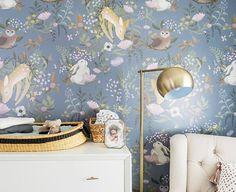 OH Deer Mural Forest Bunny Scene Wallpaper Garden Scene