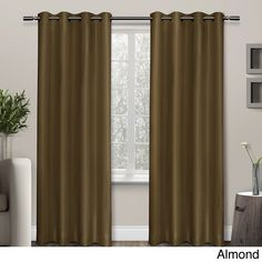 ATI Shantung Thermal Insulated Grommet Top Curtain Panel Pair