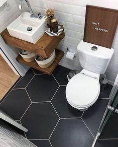 60 Ideas Bath Room Sink Small Vanity Tile For 2019 Tiny House Bathroom, Bathroom Floor Tiles, Wood Bathroom, Bathroom Design Small, Bathroom Layout, Bathroom Interior Design, Bathroom Ideas, Room Tiles, Bathroom Designs