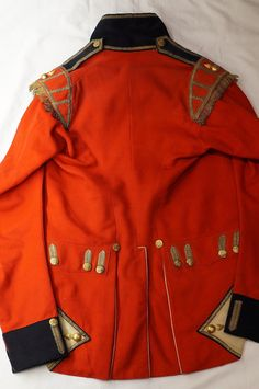 Reverse of Georgian Uniform  GR gilt buttons and Flaming Grenade badges