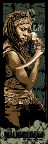 """""""Fight the Dead. Fear The Living: Michonne"""" by Tracie Ching"""