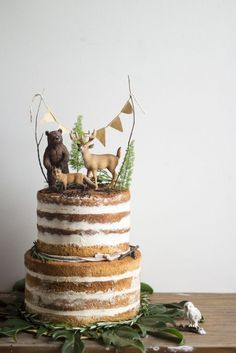 Ideas para Decorar las tartas con animales de juguete