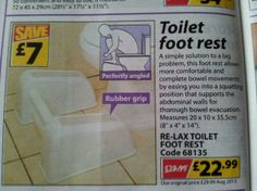 Perfectly angled toilet foot rest