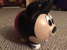 Ratón de Mickey pintadas hucha de cerámica grande