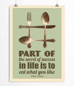 Mark Twain kitchen quote art print