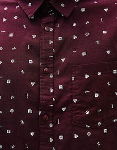 Camisa estampada manga corta - Camisas - Bershka Mexico