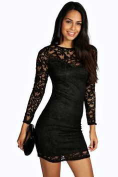 ANNORAH CROCHET LACE SWEETHEART MINI BODYCON DRESS