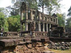 Preah Khan in Angkor Siem Reap, Cambodia Date: 1191 AD, Reign: Jayavarman VII, Religion: Buddhist  Read more: http://www.globaltravelmate.com/asia/cambodia/angkor/angkor-temples/563-siem-reap-preah-khan.html#ixzz2Xb9npD00