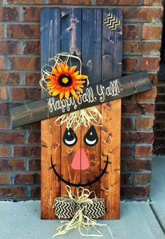 pallet projects for fall. reversible scarecrow snowman pallet sign by southerngritdesign. thanks for posting, southerngritdesign! projects fall t