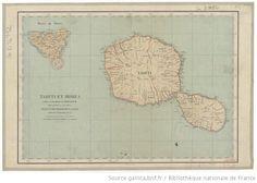 Tahiti et Moréa / d'après la carte dressée par Adam Kulczycki ; Publiée par ordre de son Excellence Mr le Cte P. de Chasseloup-Laubat, Minis...