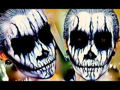 ▶ Evil Demon; Halloween Makeup Tutorial. - YouTube Love this and it looks SO simple!!!