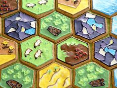 Gingerbread cookies of Catan - this is so cool!!!
