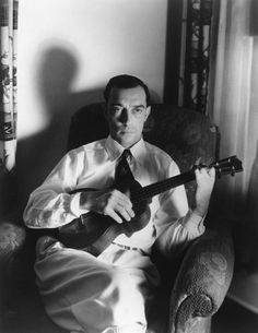Buster Keaton with tenor ukulele. hurrell - Google Search